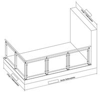 Geländer L-Form links