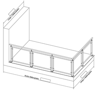 Geländer L-Form rechts