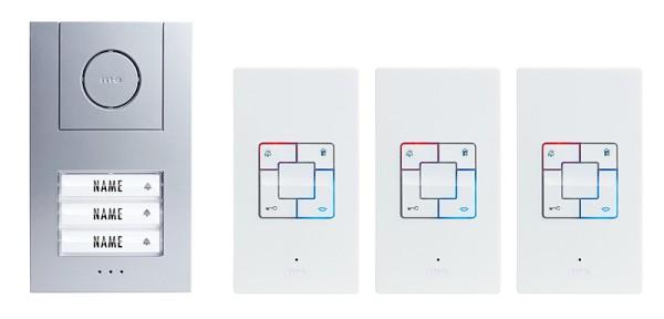 Vistus AD 4030 Türsprechanlage für das Dreifamilienhaus Frontansicht