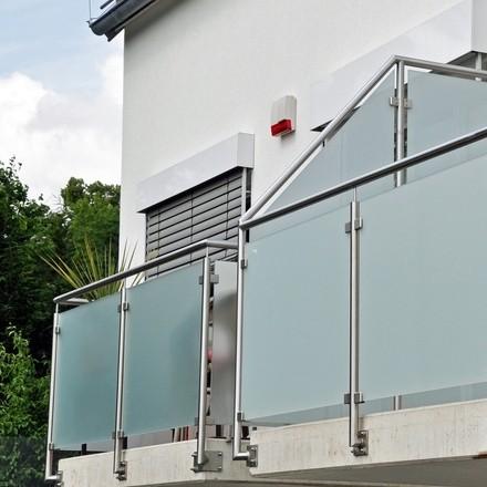 Edelstahl Gelander Glas Bausatz Seitliche Befestigung Glasgelander