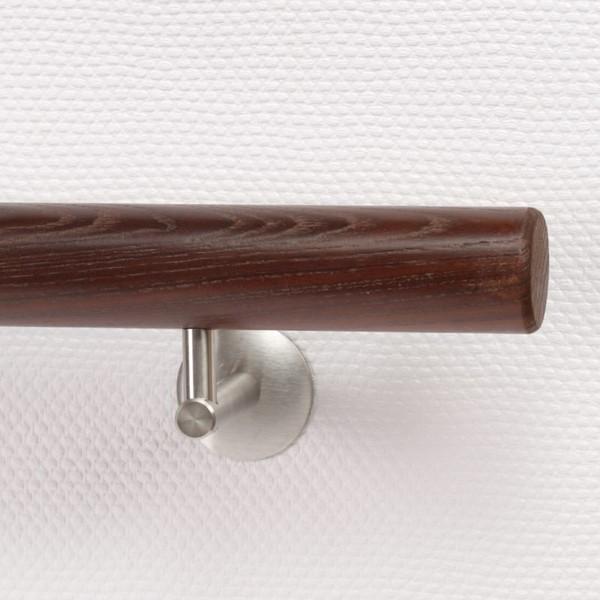 Handlauf Holz Thermoesche mit abgerundeten Handlaufenden