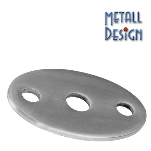 Ankerplatte Edelstahl oval 06