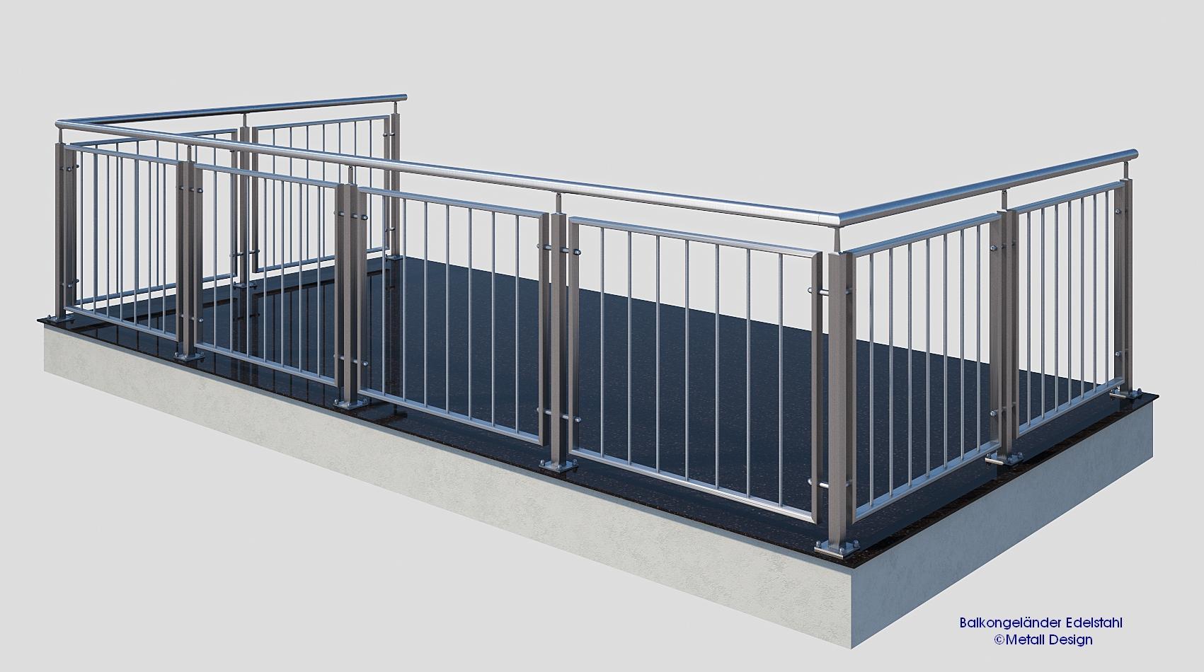 franzoesischer balkon edelstahl md 02a design shop baalcke ihr handlauf gel nder und. Black Bedroom Furniture Sets. Home Design Ideas