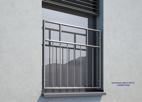 Französischer Balkon MD 03E Edelstahl