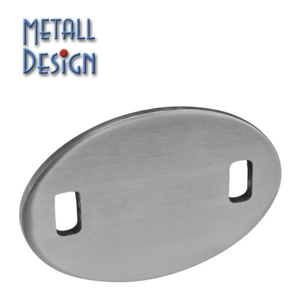 Ankerplatte Edelstahl oval