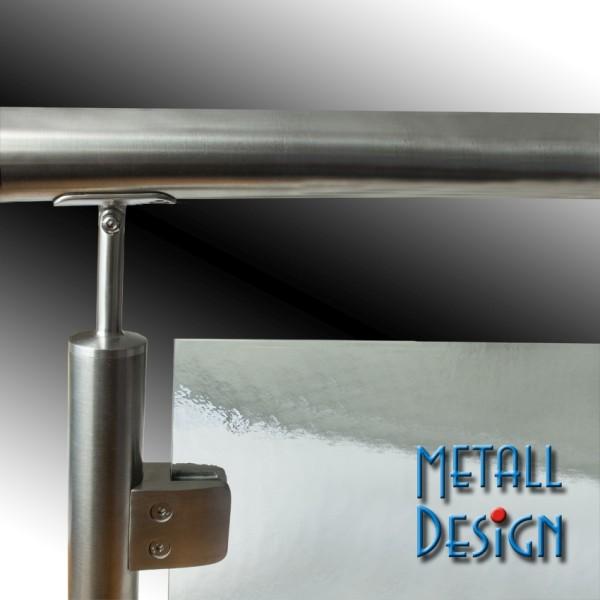 Glashalter Edelstahl B26, 55 x 55 mm
