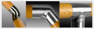 Handlauf Holz Edelstahlverbinder
