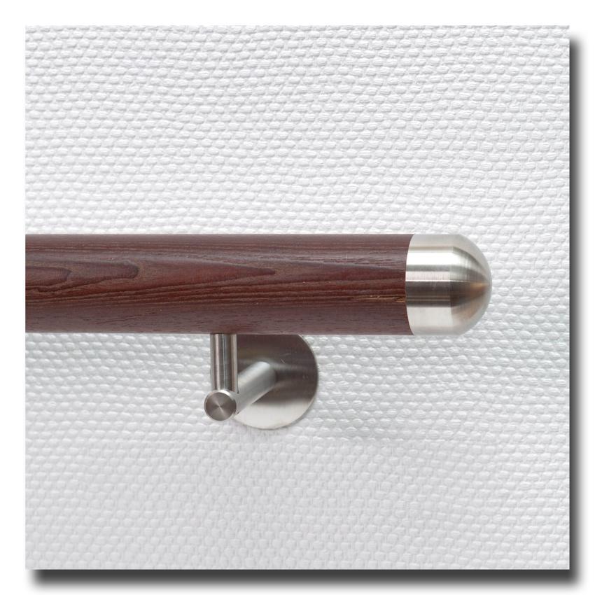 handlauf holz aus thermoesche mit handlaufenden edelstahl rund deutschland. Black Bedroom Furniture Sets. Home Design Ideas