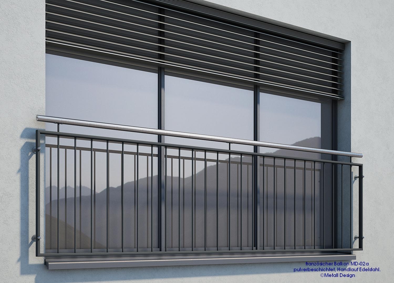 franz sischer balkon md 02ap pulverbeschichtet anthrazit ral7016 deutschland. Black Bedroom Furniture Sets. Home Design Ideas