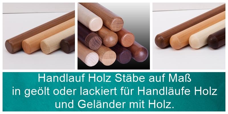 Handlauf Holz Stab.