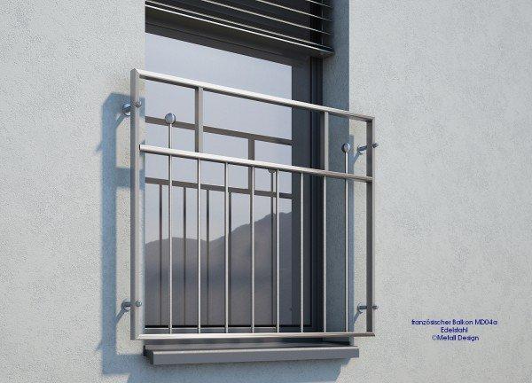 französischer Balkon Edelstahl MD04a