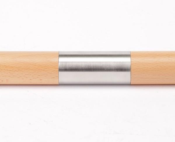 Handlauf Holz Verbinder Edelstahl gerade