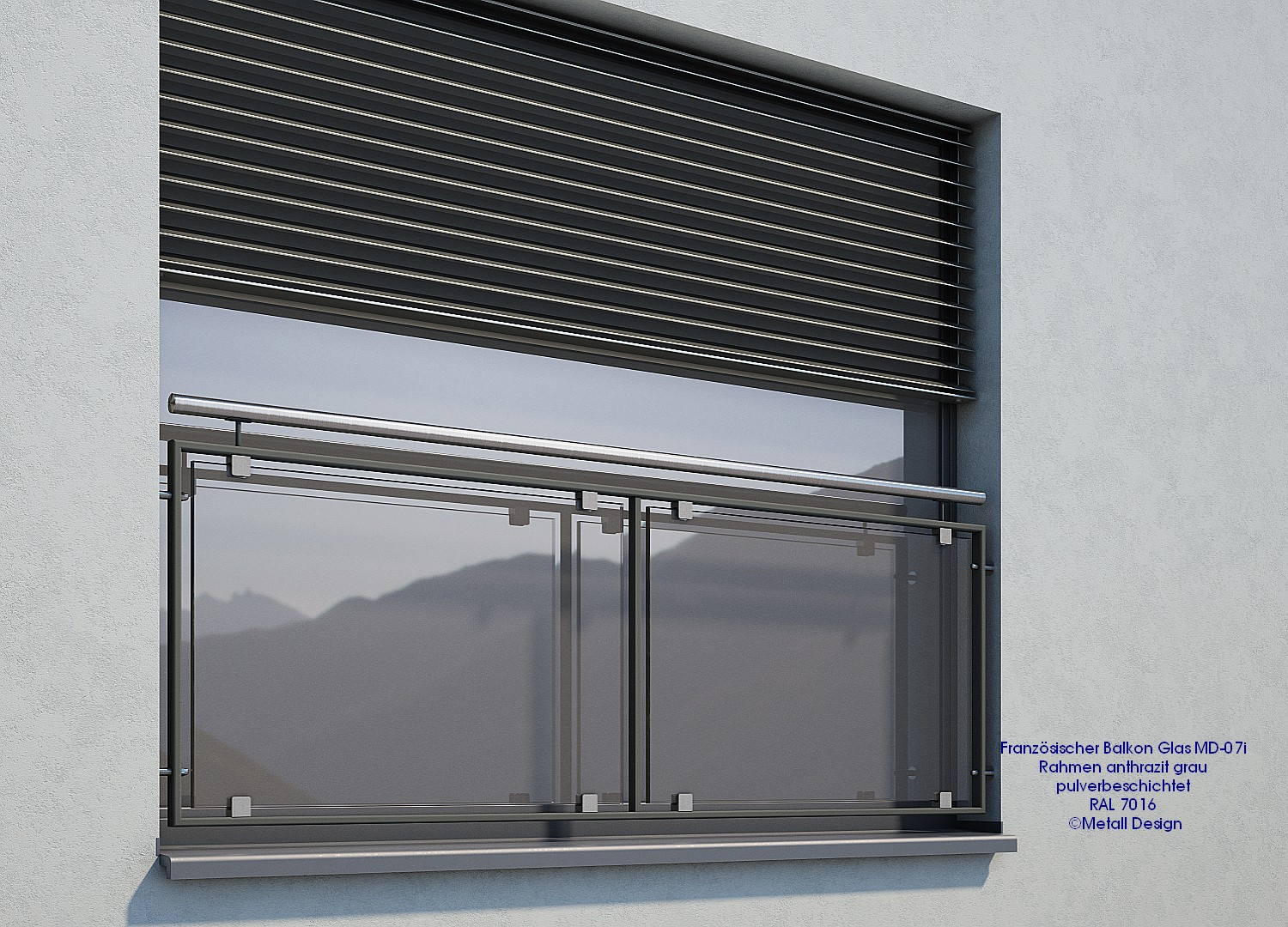 French Balcony Md 07ip Powder Coated Englisch