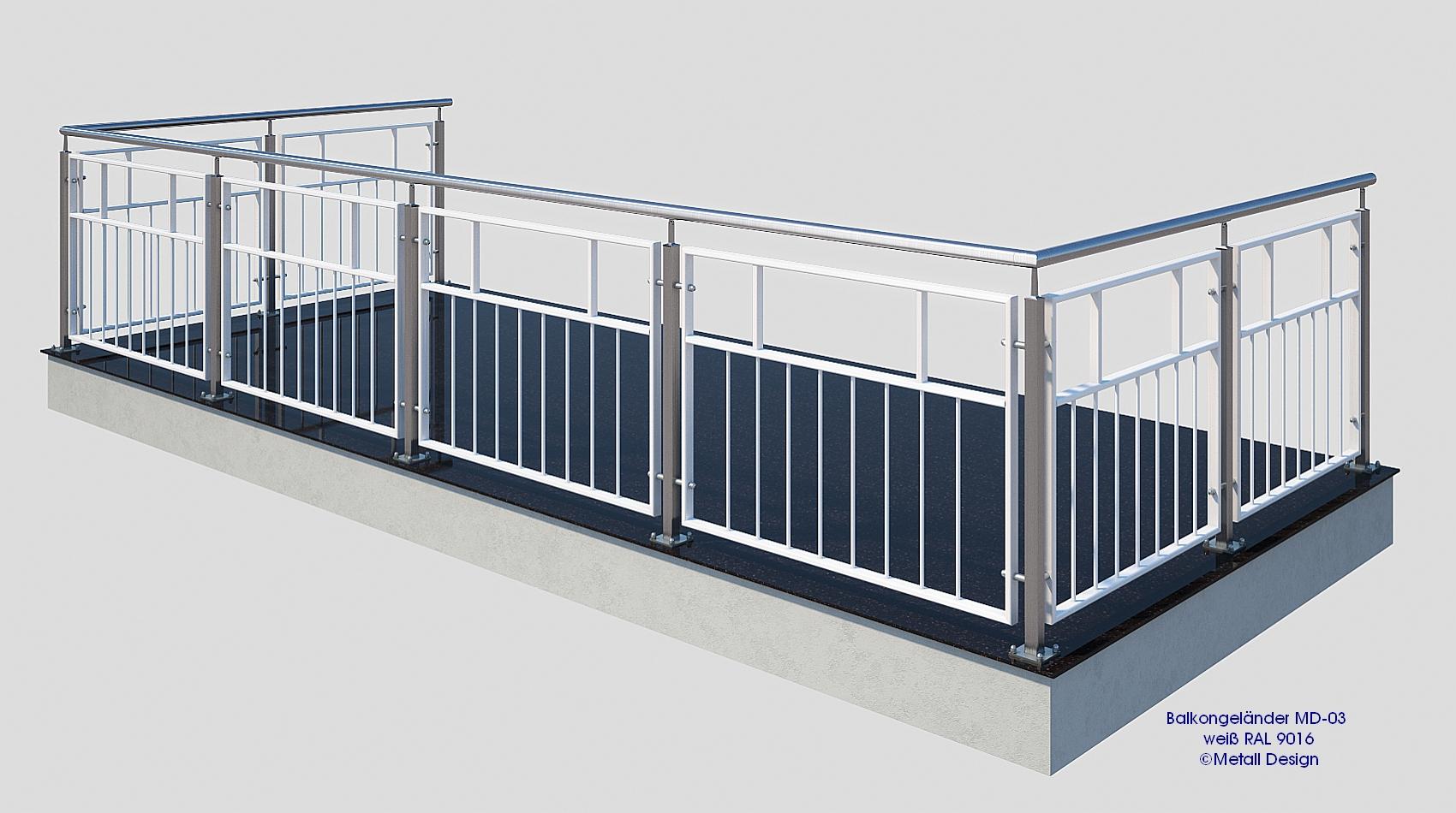 franzosischer balkon md 03p pulverbeschichtet weiss With französischer balkon mit sitzbank weiß garten