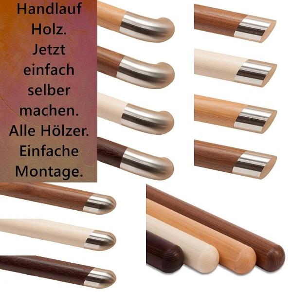 Handlauf Holz, Eiche, Buche, Ahorn, Mahagoni, Lärche, alle Holzhandläufe.