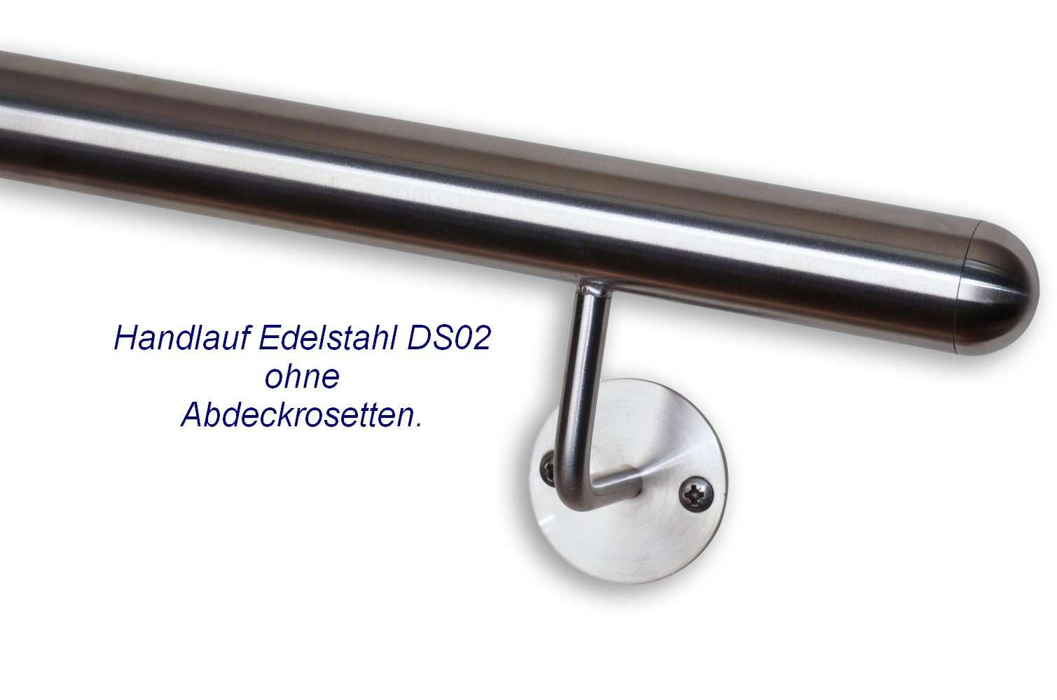 handlauf edelstahl ds02 auf ma gefertigt mit runden handlaufenden deutschland. Black Bedroom Furniture Sets. Home Design Ideas