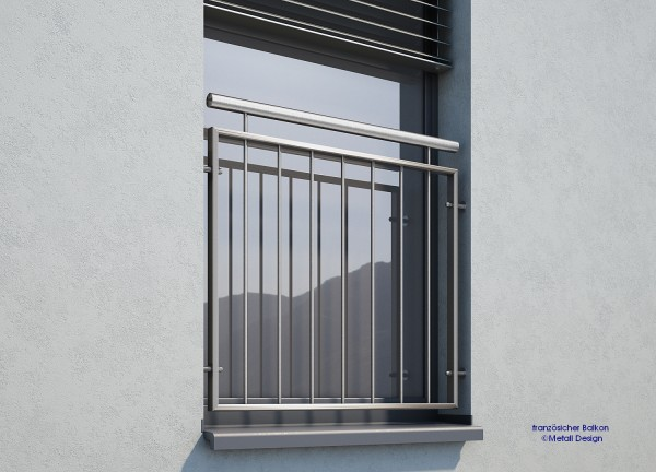 Französischer Balkon Edelstahl MD 02i