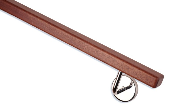 Handlauf Mahagoni rechteckholz Handlaufhalter hochglanz poliert