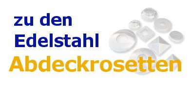 Edelstahl-Abdeckrosetten