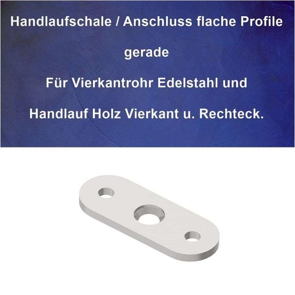 Anschlussplatte Handlauf und Geländer Flach gerade.