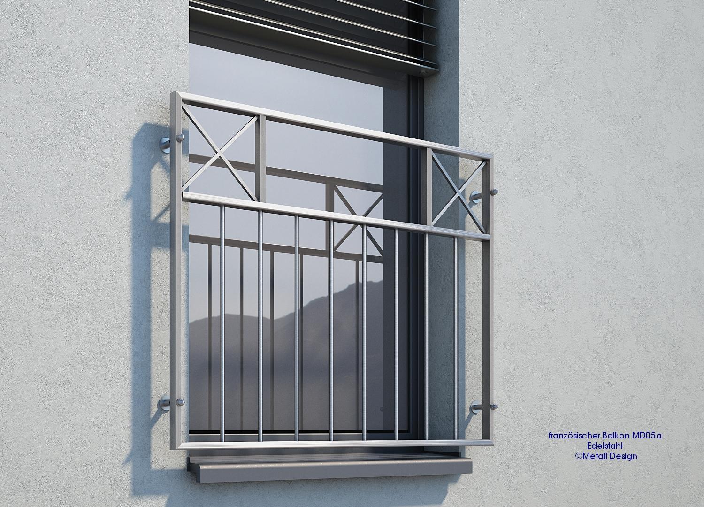 franz sischer balkon edelstahl mde05a design shop baalcke ihr handlauf gel nder und. Black Bedroom Furniture Sets. Home Design Ideas