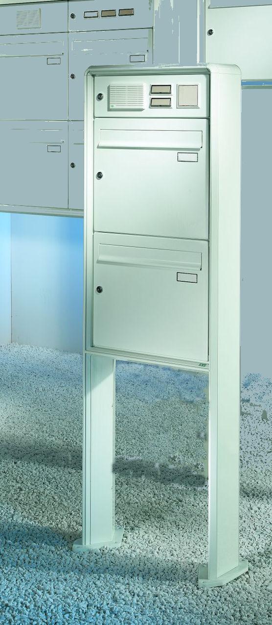 briefkastenanlage 2er freistehend f se f 2 s. Black Bedroom Furniture Sets. Home Design Ideas