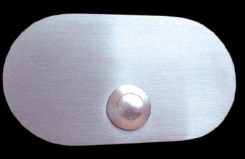 Klingelplatte massiv 6mm Edelstahl Oval