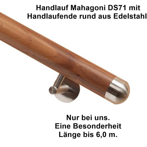 Handlauf Mahagoni Handlaufende rund.