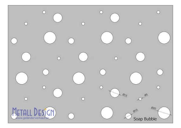 Lochblechgeländer Lochblech Soap Bubble