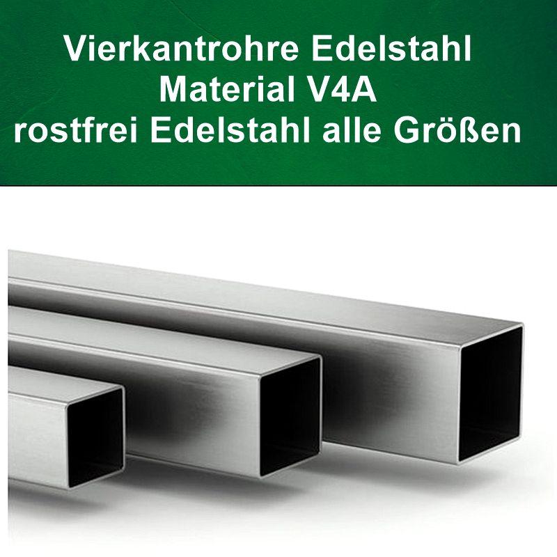 Vierkantrohr V4A Edelstahl, Länge auf Maß kaufen