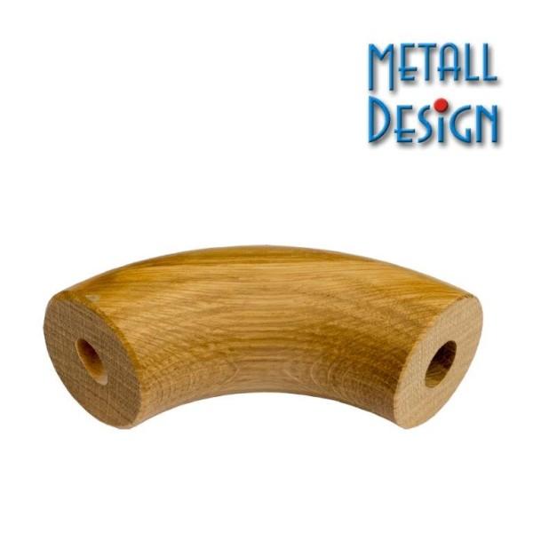 Handlauf Holz Bogen Eiche beidseitig gebohrt