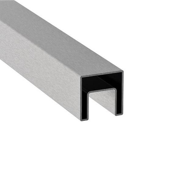Handlauf Glasgeländer V2A Vierkantrohr Länge auf Maß