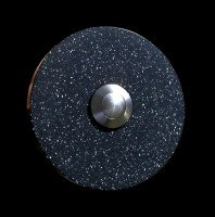 Klingelplatte Granit rund schwarz