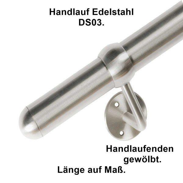 Handlauf DS03 aus Edelstahl, Länge auf Maß.