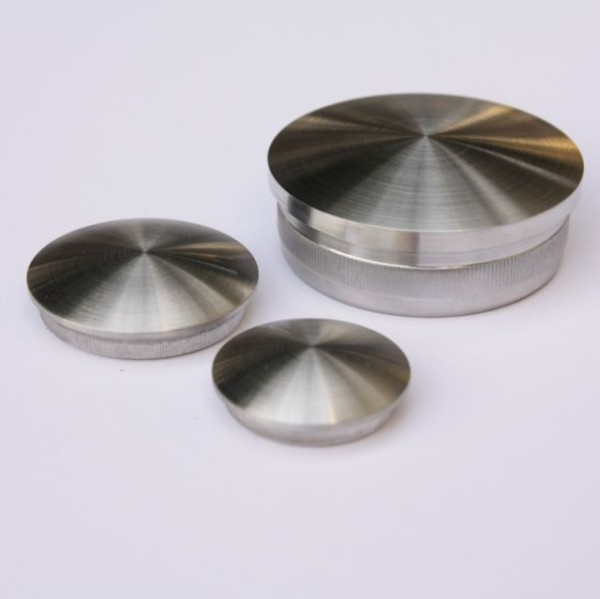 Stainless steel end cap V2A domed
