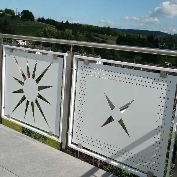 Französischer Balkon Lochblech Sonderlochung