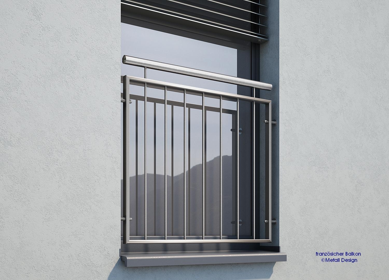 franzoesischer balkon edelstahl md 02 design shop baalcke ihr handlauf gel nder und. Black Bedroom Furniture Sets. Home Design Ideas