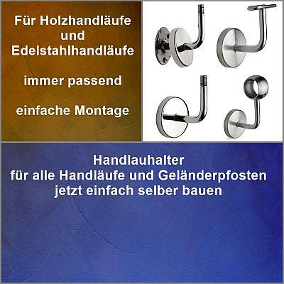Handlaufhalter für Handlauf Holz Handlauf Edelstahl und Geländerpfosten