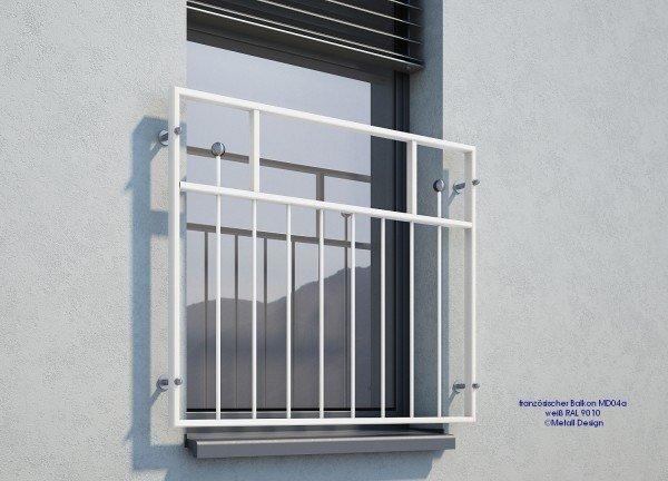 französischer Balkon MD04a weiß