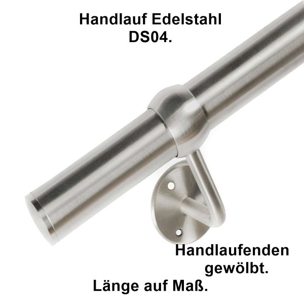 Handlauf DS04 Länge auf Maß Material Edelstahl.
