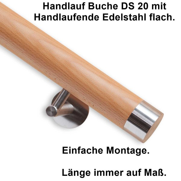 Handlauf Buche DS20 Handlaufende flach.