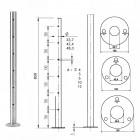 Geländerpfosten Edelstahl Basis 11