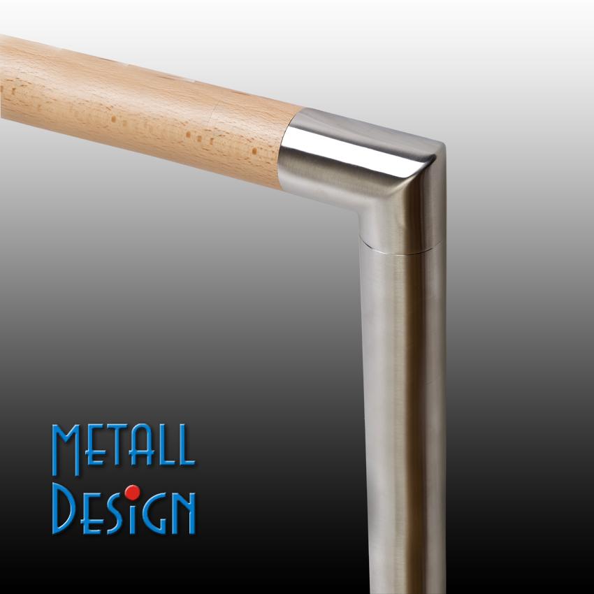 handlauf holz edelstahl gel nderpfosten eckbogen handlauf holz edelstahl verbinder. Black Bedroom Furniture Sets. Home Design Ideas