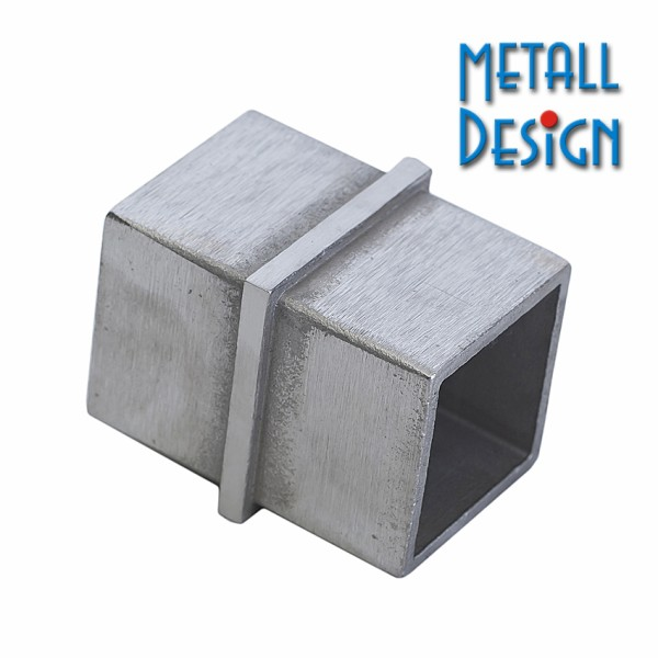 Quadratrohr-Verbinder Edelstahl V4A, AISI 316