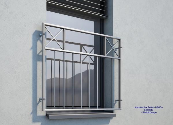 französischer Balkon Edelstahl MDE05a