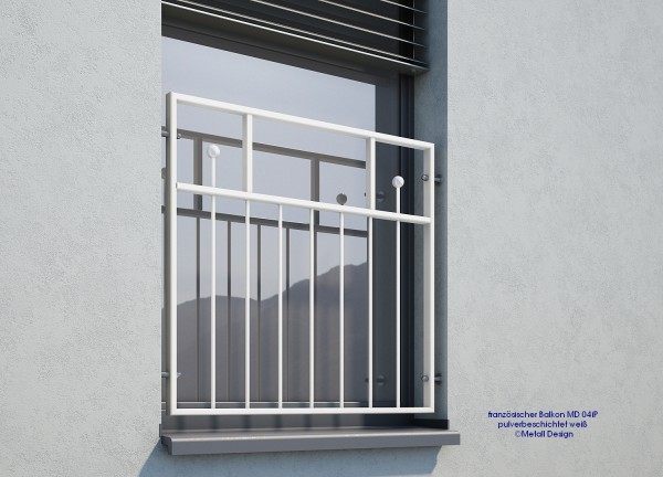französischer Balkon MD04i weiß