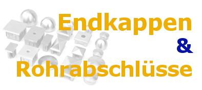 Edelstahl-Endkappen-Rohrabschlüsse
