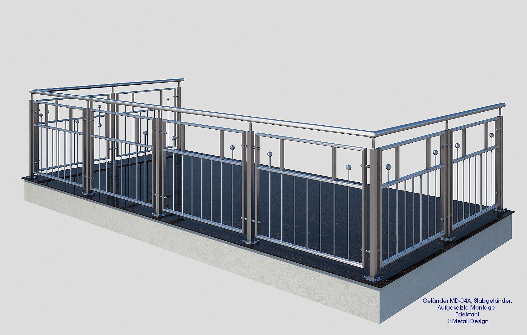 balkongel nder edelstahl md 04a deutschland. Black Bedroom Furniture Sets. Home Design Ideas