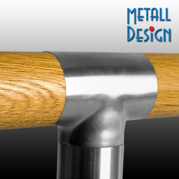 Handlauf Holz T-Verbinder Edelstahl