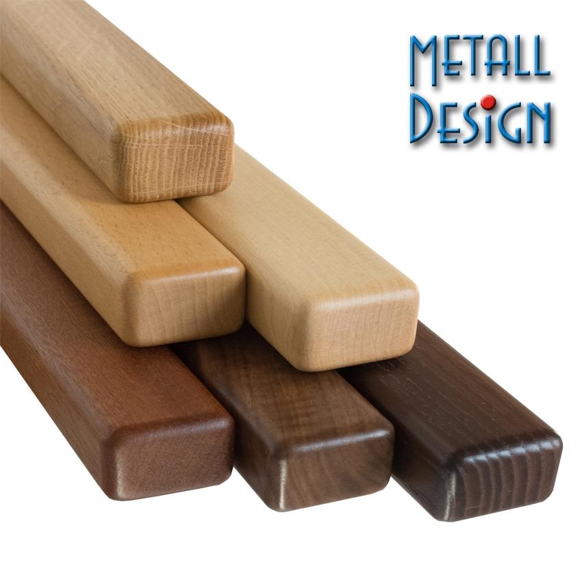Handlauf Holz rechteck lackiert